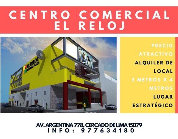 Alquiler De Local Comercial En Centro Comercial El Reloj