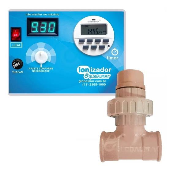 Ionizador Piscina Timer Digital Tratamento Para Água 60m³
