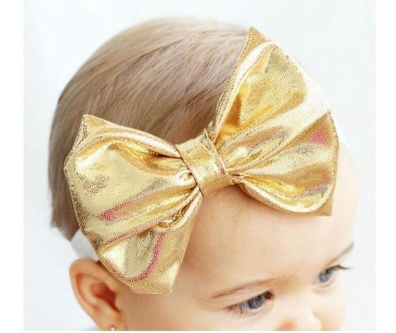 Cintillos Lazos Metalizados Fashion Moda Niñas Bebes 2.5v