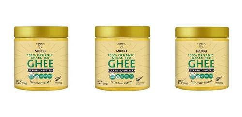 Imagen 1 de 4 de Ghee Pack Organico Grass Fed 250ml 3 Kosher/halal Libre Past