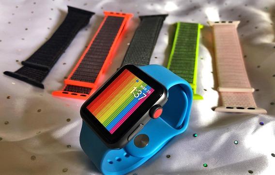 Apple Watch Serie 3 De 42mm Gps + Celular Y 6 Correas
