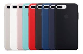 Capa De Silicone P/ iPhone 6 Ao 8plus + Pelicula De Vidro