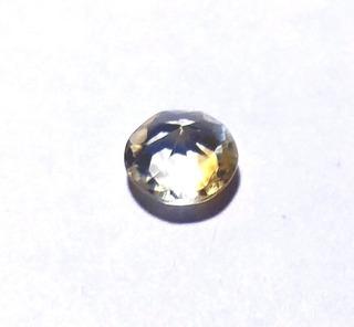 Piedra Citrino Amarillo Facetado Diámetro 6,1 Mm # De Mi Colección