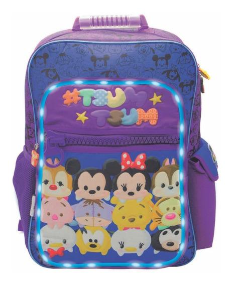 Mochila Espalda Grande 18p Disney Tsum Tsum Con Luz Zu088