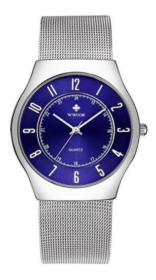Reloj Wwoor Original Caballero Acero Inoxidable Con Estuche