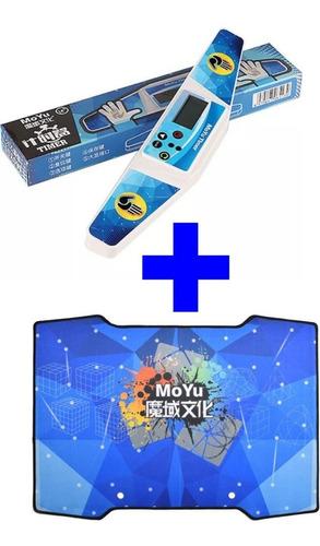 Imagem 1 de 5 de Tapete Moyu Para Cubo Mágico Mat Azul + Cronômetro Timer