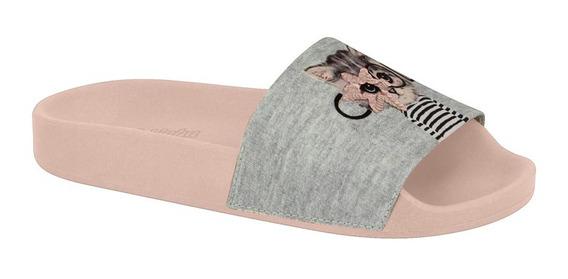 Chinelo Slide Infantil Bordado Molekinha 2311123