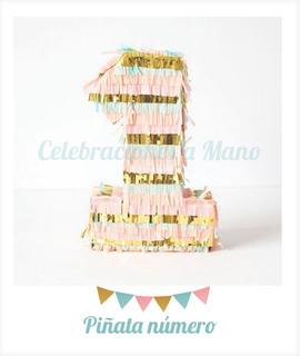 Piñata Infantil Número Cumpleaños Personalizado Primer Año