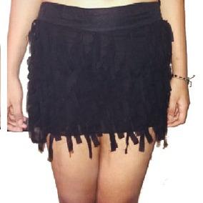 Falda Negra Con Tiras