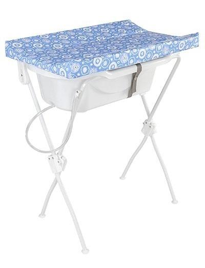 Banheira Bebê Trocador Infantil Floripa Azul