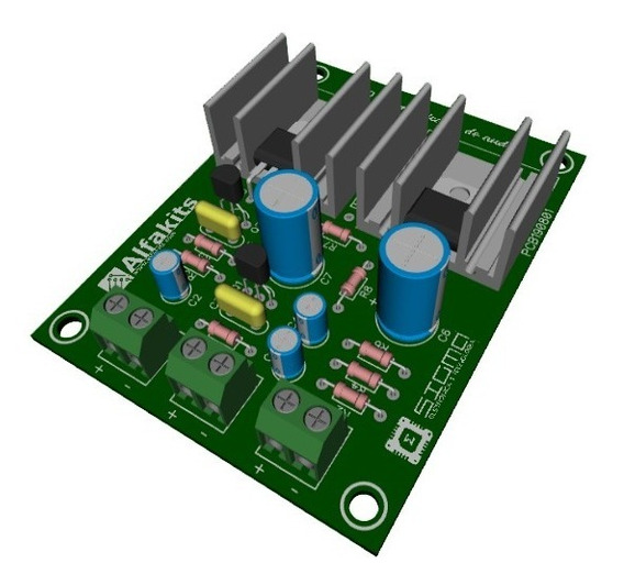 Kit Placa Circuito Amplificador Para Montar Uno Alfakits