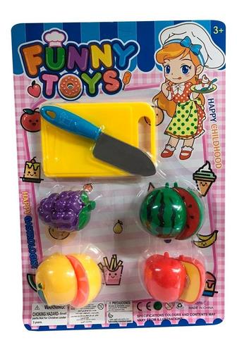 Set De Frutas Grandes Infantil Abrojo Juguete Plastico