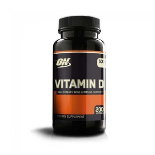 Vitamina D Optimum Nutrition 5.000ui 200 Caps On Importada