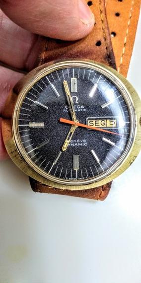 Omega Antigo Relógio Suíço Geneve Dynamic Automático Calend