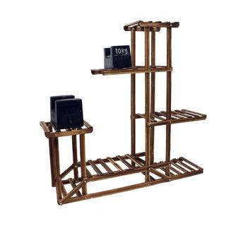 Mueble Para Macetas Decorativo Soporte 5 Estantes De Madera