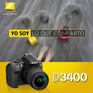 Nikon Dslr D3400 + Lente 18-55mm Financiamiento - Inteldeals