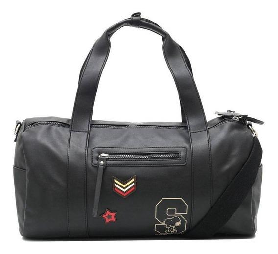 Bolsa Snoopy Army 2805 Preta Viagem Academia Moda