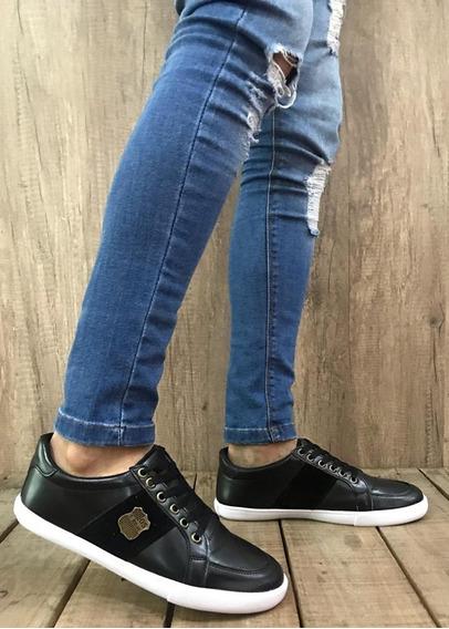 Zapatos Zapatillas Hombre Ecocuero Talle 39-45 Negro A730 Ne