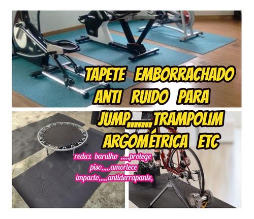 Imagem 1 de 10 de Tapete Borracha 4mm Anti Ruido Para Bicicleta 2.00x1.00mts