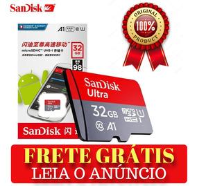Cartão Sandisk De Memória Micro Sd Ultra 32gb Original 98mb/