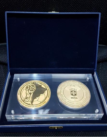2 Medalha Oficial Futebol Cbf Eliminatorias Copa Russia 2018