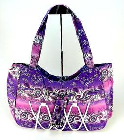 30aa6b421 Bolsas Outras Marcas de Tecido Femininas Violeta no Mercado Livre Brasil
