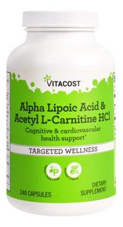 Acido Alfa Lipóico + Acetil L Carnitina 240 Caps Cod. 102