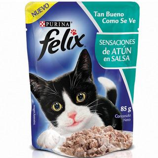 Alimento Para Gato -felix Sensaciones Atun En Salsa 85 Gr