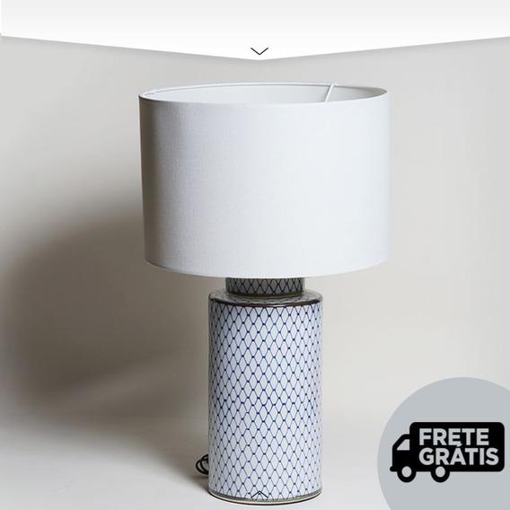 Abajur Adorno Decor Louça Portuguesa Design Premium Promoção
