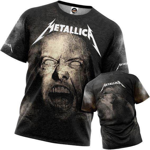 Camiseta Metallica Masculina Estonada Lars Ulrich Other Side