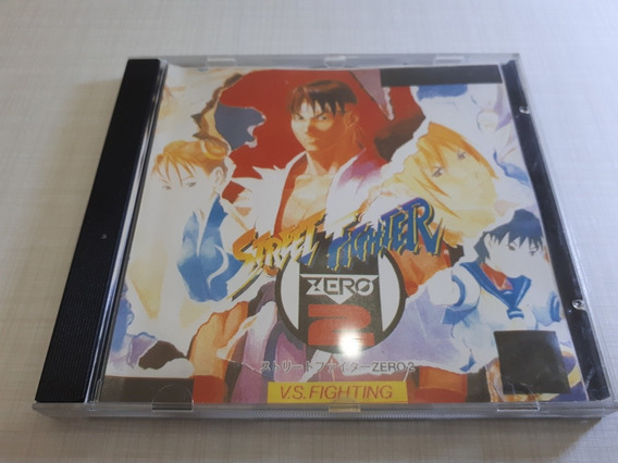 Street Fighter Zero 2 Patch Prata Prensado Playstation Ps1