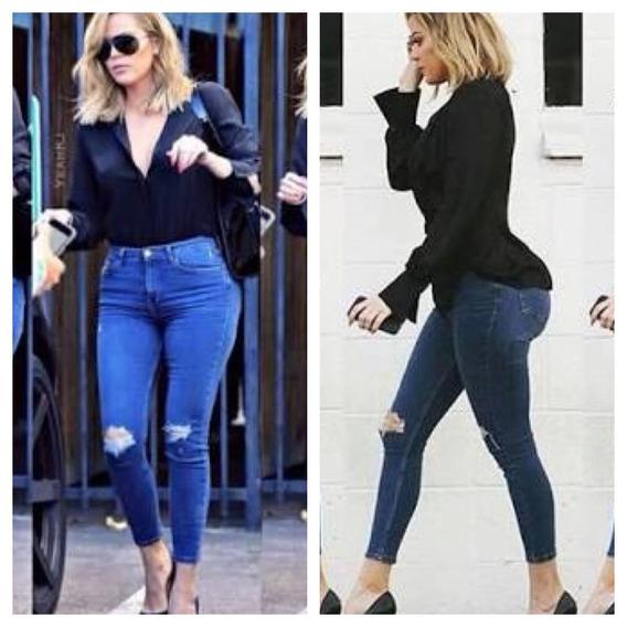 Calça Jeans Feminina Cintura Alta Levanta Bumbum Promoção