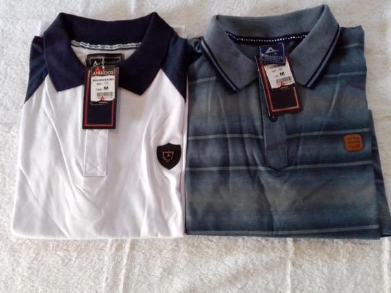 Kit 05 Camisas Gola Polo