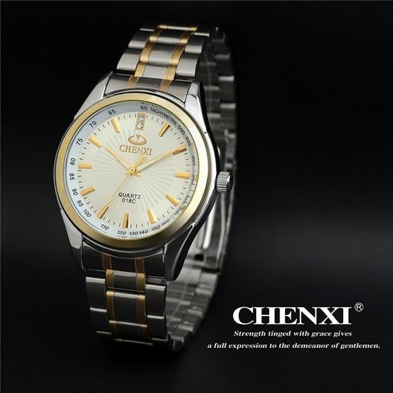 Relógio Chenxi Quartz Aço Inoxidável Fundo Branco