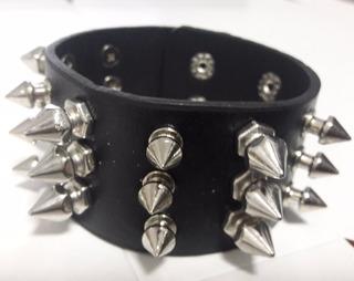 Munhequeira Pulseira Bracelete Spikes Rock Punk Ref: 363