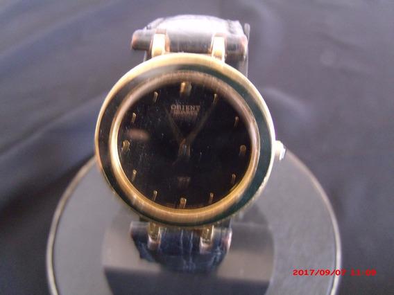 Relógio De Pulso Feminino Em Plaquê De Ouro Orient Quartz