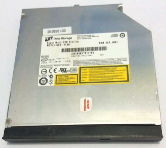 Gravador Dvd Notebook Toshiba 1462 B26