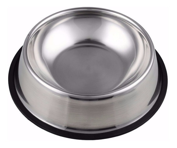 Comedouro Bebedouro Pote Inox Para Ração Cães E Gato 700ml