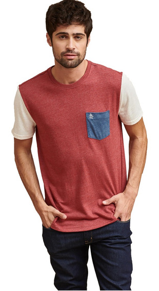 Remera Penguin Ss Contrast Pocket Tee 0cnht087607 Hombre 0cn