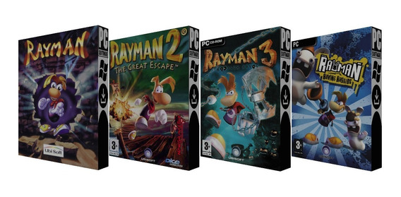 Rayman 1 + 2 + 3 + Raving Rabbids - Pc - Mídia Digital