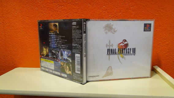 Jogo Manual E Estojo Originais Final Fantasy 8 Playstation 1