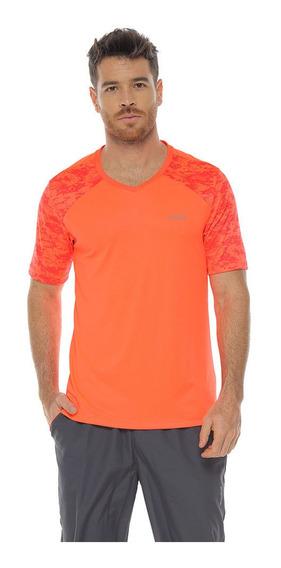 Camiseta Deportiva Manga Corta, Color Naranja Para Hombre