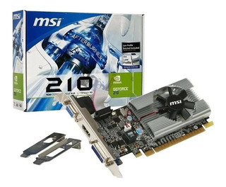 Placa Video Msi Geforce Gt210 1gb Ddr3 Low Profile 210