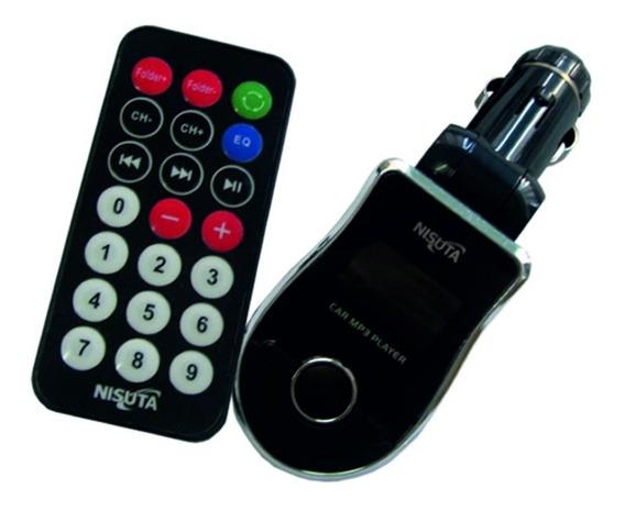 Transmisor Fm Nisuta Control Remoto Mem Sd Pen Drive Usb Aux