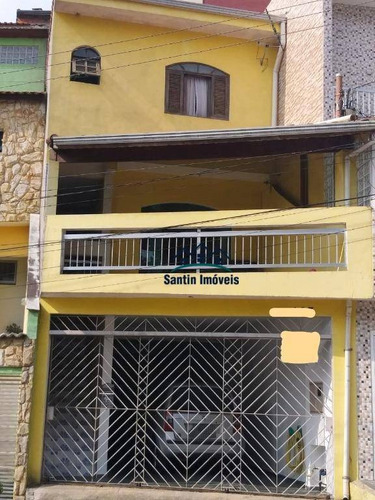 Sobrado Com 4 Dormitórios (01 Suíte )sala Ampla,cozinha,área De Serviço,quintal,04 Vagas À Venda, 125 M² Por R$ 550.000 - Parque Gerassi Santoandré/sp - So0319