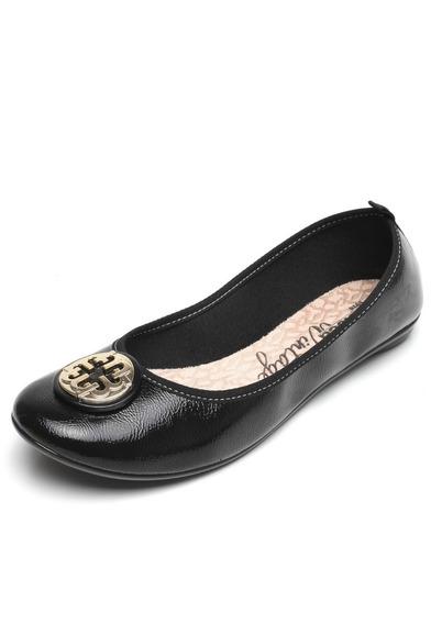 Sapatos Sapatilha Moleca Enfeite Preta Original A Pronta Ent