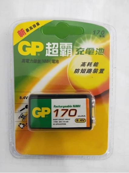 Batería Pila Recargable Gp 9v 170 Mah Nuevas! Oferta!!!
