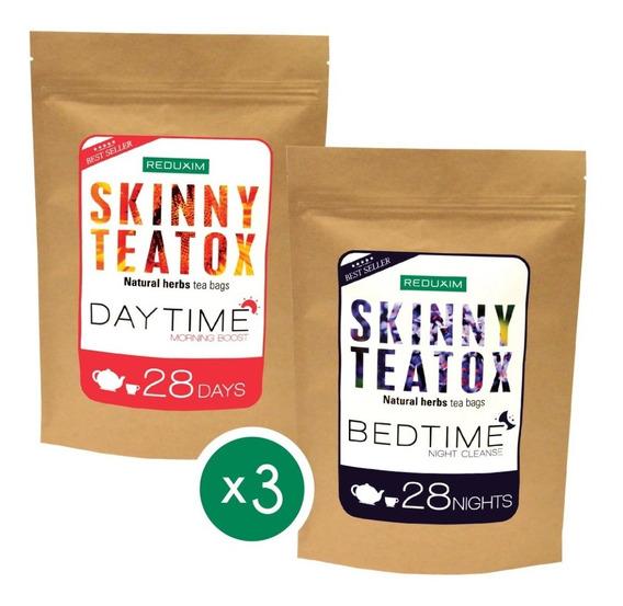 Paquete De 3 Reduxim Skinny Teatox Té Detox Día Y Noche