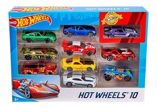 Hot Wheels Set 10 Carros Hotwheels Juguetes Original Mattel