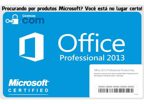 Microsoft Office 2013 Professional Esd + Nota Fiscal